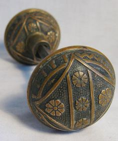 Antique Door Brass Door Knobs & Old Brass Door Knob without back plate. | ´)(` .¸DoorHardware ...