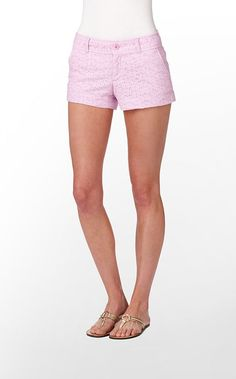 Lilly Pulitzer Walsh Short in Pink Hyacinth Sweet Daisy Eyelet. $84--- SO expensive, but cute!
