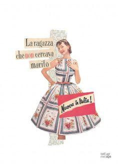L'ironia è donna: il collage vintage trasforma le riviste degli anni Cinquanta in opere-manifesto