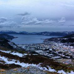 From todays trip to Fagrefjellet. Windy, but nice view towards Ålesund. #fagrefjellet #sykkylven #visitnorway #i_love_norway