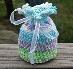 Potpourri Sachet Party Bags  Crochet by HandmadeByAnnabelle  I fill these with jelly beans for Easter and use them as party bags.