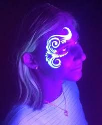 Image result for facepainting ideas for glow party