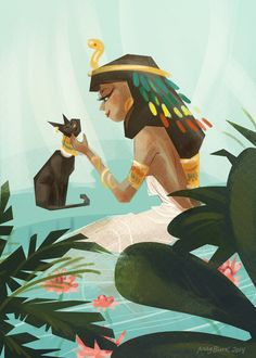 Cleopatra - Did not say she was incarnate of Isis. How is it all remnants of Cleopatra were destroyed after her death but this rumor survived? Character Illustration, Illustration Art, Character Art, Character Design, Tableaux Vivants, Egyptian Art, Egyptian Jewelry, Egyptian Costume, Art Africain