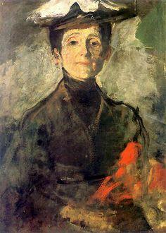 bofransson:  Self PortraitOlga Boznańska - 1909