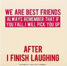 Sorry, but I do laugh when people trip or get hurt in funny ways - runs in the family!