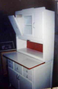 After We Painted The Hoosier Cabinet