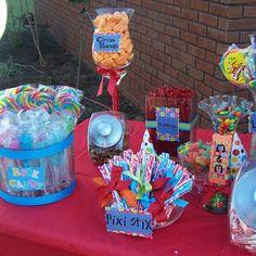 Carnival Party Candy Buffet---- yummmy candy buffet.........