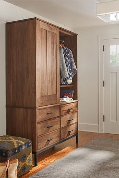 Storage made easy. You can detach the top cabinet from the bottom, making it easy to move or fit anywhere in your home.