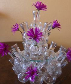 25 mini glass bottles  decor by ZuziDesign on Etsy, $24.99