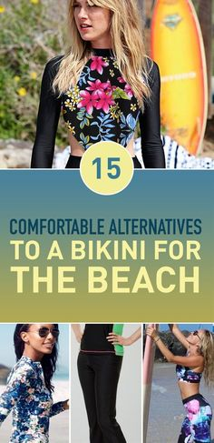 Bikinis might be the most popular type of swim wear but they're also the most dreaded. You don't have to wear a bikini though! There are all sorts of alternatives you can go for and still look Instagram-ready while you're enjoying your comfort.