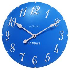 Shop for NeXtime London Blue Wall Clock from our Retro Home Décor Accessories. Vintage clocks don't come any cooler than this!