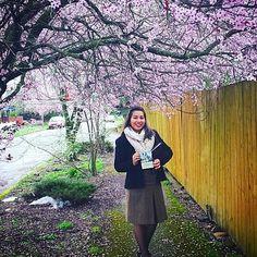 En #Portland, #Oregon, #EstadosUnidos, Hermana en la predicacion con la campaña de la invitacion al memorial de Cristo el 23 de MARZO de 2016.  (Regular pioneer doing Spanish Campaign work in Portland OR pic by @leytonmajesty)