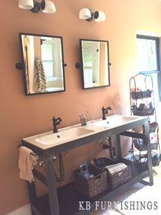 Industrial Metal Bathroom Vanity made locally by KB Furnishings