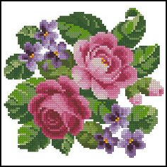 Cross Stitch Flowers, Cross Stitch Patterns, Beaded Embroidery, Needlepoint, Projects To Try, Miniatures, Crochet, Salons, Throw Pillows