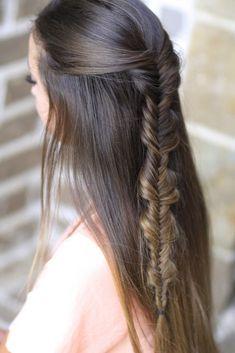 A cool version of a fishtail~ #hairstyles #hairstyle #cutegirlshairstyles #braids #CGHbubblefishtail #braid #fishtailbraid