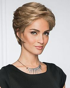 View Of All Images For Upscale by Gabor Natural Looking Highlights, Grey Hair Wig, Gabor Wigs, Luminous Colours, Going Gray, Perm, Short Hair Styles, Hair Cuts, Crown