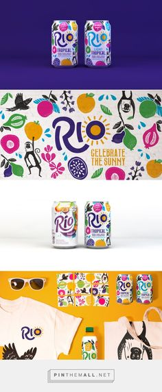 Rio Tropical Fruit Juice on Packaging of the World - Creative Package Design Gallery Graphic Design Bold Pattern Vibrant Colors - created on Packaging Box, Fruit Packaging, Food Packaging Design, Beverage Packaging, Brand Packaging, Coffee Packaging, Web Design, Game Design, Logo Design