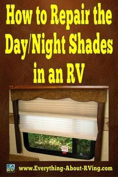 One of the Day/Night shades in my RV has a broken string.  Do I have to replace the shade or can I get it repaired? Is it possible to replace the strings