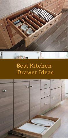 DIY Kitchen Drawer Ideas #kitchendrawer #diykitchendrawer Kitchen Drawers, Kitchen Cabinets, Diy Kitchen, Kitchen Ideas, Drawer Inspiration, Drawer Ideas, Drawer Design, Pantries, Kitchenette