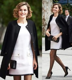 Felipe Varela White Dresses For Women, Queen Letizia, Street Style, Blazer, Celebrities, Jackets, Royals, Spain, Clothes