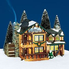 "Department 56: Products - ""Smokey Mountain Retreat"" - View Lighted Buildings"