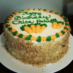 Carrot cake with cream cheese frosting..