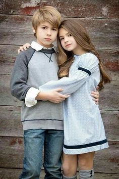 "Brooke and Tyler voted ""Most Beautiful"" brother and sister by Child Model Magazine They just look like average lookin' white kids to me. Nothing to make a big fuss about 😥 Fashion Kids, Baby Boy Fashion, Cute Baby Couple, Cute Couples, Cute Kids, Cute Babies, Baby Kids, Sibling Photography, Children Photography"