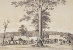 Life at the Diggings - Letters from McIvor Diggings, Victoria, 1 July 1853 and Bendigo, 25 July 1853 Broken Promises, Victoria Australia, Historical Pictures, The Fosters, Vietnam, The Past, In This Moment, History, Drawings