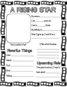 First Day - All About Me! Movie Theme - Erika Moreland - TeachersPayTeachers.com