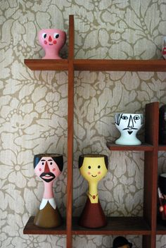 egg cups - Love the tall skinny necked...