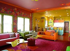 Creative home ideas that comes with a cheerful interior design ~ What a great playroom idea