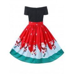 Christmas Off The Shoulder Swing Dress - M M