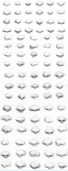 "these are some nose references from a class by Gabrielle DeCesaris. ""Portrait Artist- ArtworkbyGabrielle.com"""