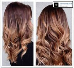 Ombre warm copper and gold