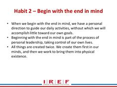 11 Best Begin With The End In Images Leader In Me Habits Of Mind