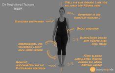 Tadasana (Die Berghaltung) Yoga Übungen für Anfänger
