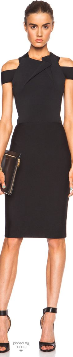 ROLAND MOURET SWANGROVE VISCOSE-BLEND DRESS |  LOLO❤