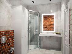 Ванная - Интерьер трехкомнатной квартиры в стиле Лофт для пары с ребенком, 100 кв.м.