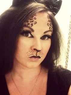 Halloween cat makeup!