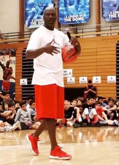 Michael Jordan Wearing Jordan 11 Low Red Gum | Sole Collector
