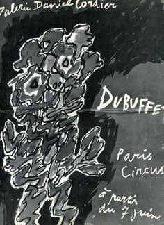 Jean Dubuffet. Paris Circus Paris,  Galerie Daniel Cordier,  1962