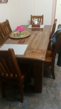 Dining table finished