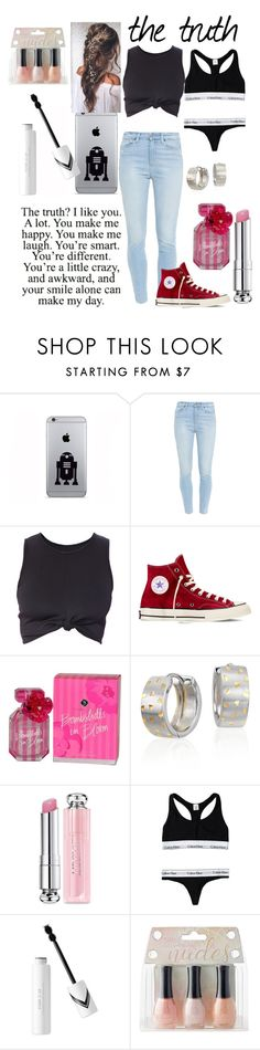 """Truth"" by snowflakeshinon ❤ liked on Polyvore featuring Paige Denim, Converse, Victoria's Secret, Blue Nile, Christian Dior, Calvin Klein, ORLY, women's clothing, women and female"