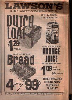 Lawson's ad 1977
