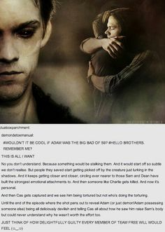 Oh my lord, this is perfect. SERIOUSLY SO PERFECT. Good we are as demented as the demons in the show