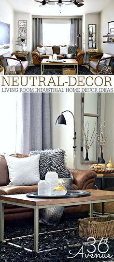 Vintage paint color palettes for Brown neutral living room ideas