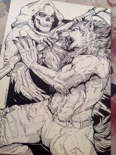 Werewolf VS the Reaper by WolfSkullJack on DeviantArt