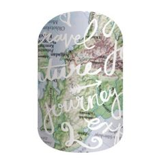 Wanderlust | Jamberry May 2016 Jamberry Sisters' Style Exclusive wrap - Wanderlust - great for any traveler! #jamberry apeterle.jamberry.com