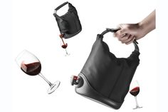 These are the best gift idea ever. And SUPER well made, to boot. From Europe. Baggy Winecoat Wine Bag Tote - 44% off
