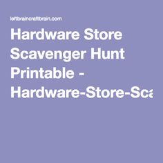 Do it yourself science projects make a volcano science hardware store scavenger hunt printable hardware store scavenger hunt printable solutioingenieria Gallery